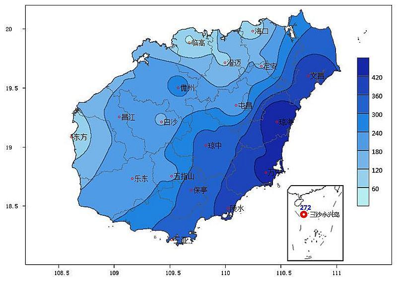 海南岛地理气候