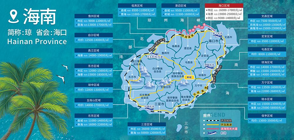 海南儋州各区域房价2021价格